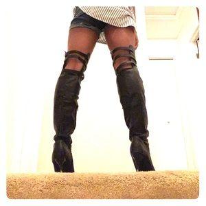 Black Thigh-High Boots!